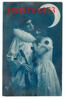CPA - UN PIERROT ET SA BELLE AU CLAIR DE LUNE  En 1924 - Edit. A. NOYER -  Scans Recto-Verso - Femmes