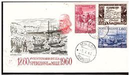 FDC  Capitolium: SPEDIZIONE Dei MILLE 1960; No Viaggiata ; AF_Milano - 6. 1946-.. Repubblica