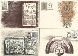Venda - 1986 - History Of Writing - Full Set Maximum Cards / Maxi Cards - Venda