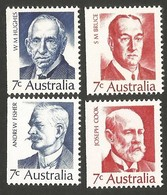 Australia. 1972 Australian Prime Ministers. MNH - 1966-79 Elizabeth II