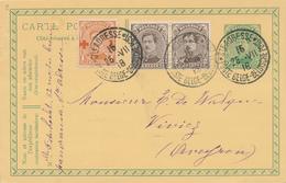 207/28 -  Entier Postal Petit Albert + TP Dito + TP CROIX ROUGE 1 C - STE ADRESSE 1918 Vers VIVIEZ Aveyron - SUPERBE - 1914-1915 Rode Kruis