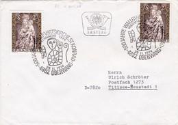 Hl Konrad, Wallfahrtsskirche Oberwang (AT). Zirk. Ersttagbrief, 2 Sonderstempel - Christentum
