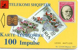 Télécarte Puce Albani  Timbre Stamp Téléphone PTT_ve -  Phonecard  (G 652) - Albanie