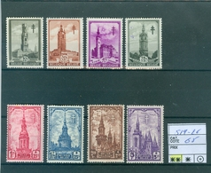 519-526 Xx Côte 65€ - Belgium
