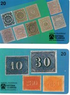 2 Télécartes Brésil Timbre Stamp Phonecard  (G 652) - Timbres & Monnaies