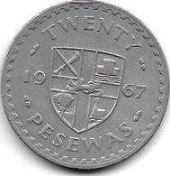 *GHANA 20 PESEWA 1967 KM 17   Vf+ - Ghana