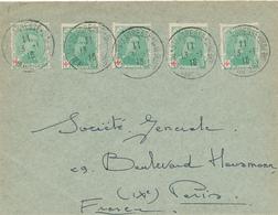 209/28 -  Lettre TP CROIX ROUGE 5 C X 5 - STE ADRESSE 1916 Vers Société Générale à PARIS - Courrier Commercial SUPERBE - 1918 Rotes Kreuz