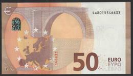 """50 EURO ITALIA  SA  S003 H5   """"01""""  LAST POSITION - DRAGHI   UNC - EURO"""