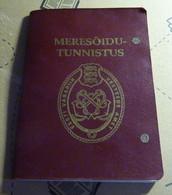 Seaman Naval Marine ID Passport Reisepass Passeport Estonia 1996 - Documenti Storici