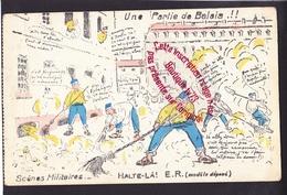 P1305 - Unepartie De Balais - Halte Là ! Scènes Militaires - Illustrateur Humour Militariat - Humor
