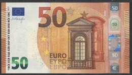 50 EURO SPAIN  VA V001 H5 LAST POSITION   - DRAGHI   UNC - EURO