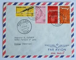 1961 Covers, Tchad, Chad, Douala Cameroun, Air Mail, Par Avion - Tsjaad (1960-...)