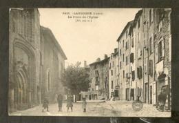 CP-Langogne - La Place De L'Eglise - Langogne
