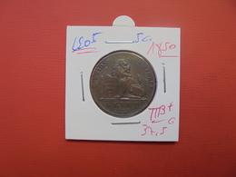 Léopold 1er. 5 Centimes 1850 TRES BELLE QUALITE - 1831-1865: Léopold I.