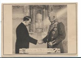 III-Pro096 / Propagandakarte, Hitlers Ernennung Zum Reichskanzler Durch Hindenburg, Potsdam 1933. Rückseitig Handschrift - Allemagne