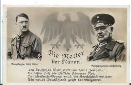 III-Pro100 / Propagandakarte, Retter Der Nation. FRÚHE Propaganda Von März 1933. Hitler Und Hindenburg - Briefe U. Dokumente
