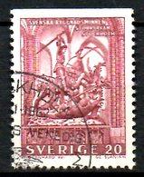 SUEDE. N°495a Oblitéré De 1962. Saint Göran Combattant Le Dragon. - Contes, Fables & Légendes