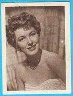 ELEONOR PARKER ... Yugoslav Vintage Collectiable Gum Card Issued 1960's - Cinema & TV