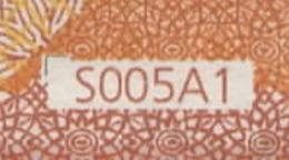 "50 EURO ITALIA  SE  S005 A1  ""05""  FIRST POSITION  -  UNC - 50 Euro"