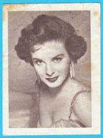 JEAN PETERS ... Yugoslav Vintage Collectiable Gum Card Issued 1960's - Cinema & TV