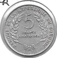 *burundi 5 Franc 1969  Km 16 Xf+ - Burundi