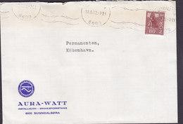 Norway AURA-WATT Autoriseret El-Installatør TMS. Cds. SUNNDALSØRA 1972 Cover Brief To Denmark - Norwegen
