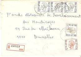 Belgique - Lettre Recommandée De EUGIES - 1981 - Province De Hainaut - Cob 1747/1822/1962 - Belgium