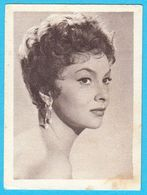GINA LOLLOBRIGIDA ... Yugoslav Vintage Collectiable Gum Card Issued 1960's - Cinema & TV