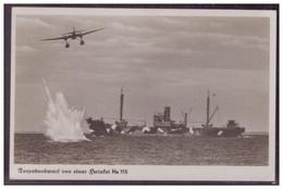 Dt-Reich (007402) Propagandakarte, Torpedoabwurf Von Einer Heinkel He 115, Ungebraucht - Deutschland
