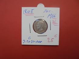 Léopold II. 50 Centimes 1886 VL QUALITE :TTB - 06. 50 Centimes