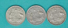 George VI - 1941 (KM38); 1946 (KM38a); 1950 (KM45) - Monnaie Pré-décimale (1910-1965)