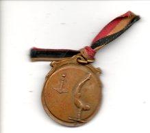 Medaille Liège Luik Gymnastie Gymnatique Souvenir Royale Libre 1876 1926 Sport Form. Ca 23mm - Belgium