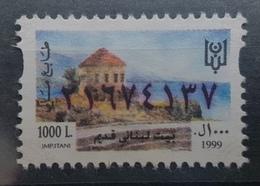 FLB1 - Lebanon 1999 Fiscal Revenue Stamp 1000 L - Unused - Old Lebanese House - Lebanon