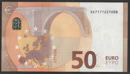 """50 EURO ITALIA  SD  S012  Ch. """"17""""  - DRAGHI   UNC - 50 Euro"""