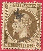 France N°30 Napoléon 30c Brun 1867 O - 1863-1870 Napoléon III. Laure