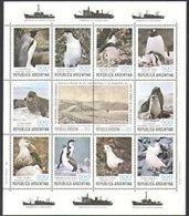74750)   ARGENTINA 1980 PINGUINI/Birds/Guarnizione/ANTARTICO/Animali/NATURA/animaliselvatici-minifoglio-mnh** - Blocchi & Foglietti