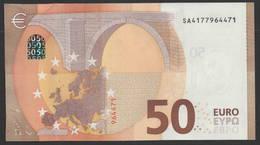 """50 EURO ITALIA  SA  S014  Ch. """"17""""  - DRAGHI   UNC - EURO"""