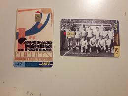 L'Uruguay Terjetas Téléphoniques Un Football - Uruguay