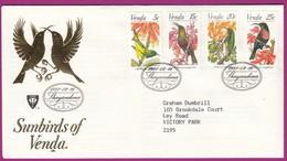 Venda - 1981 - Sunbirds Of Venda - FDC 1.6 Birds - Venda