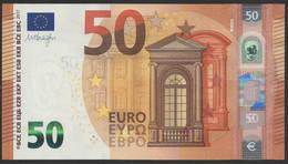 """50 EURO ITALIA  SA  S014 H5 LAST POSITION  Ch. """"26""""  - DRAGHI   UNC - 50 Euro"""