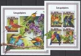 UU761 2017 TOGO FAUNA BIRDS LES GUEPIERS BEE-EATERS KB+BL MNH - Oiseaux