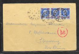 LOT 1812248 - N° 552 (BANDE DE 3 ) SUR LETTRE DU 06/04/45 POUR STRASBOURG - CACHET DE CENSURE ALLEMANDE - 1921-1960: Modern Period