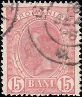 ROMANIA - Scott #124 King Carol I 'Wmk. 164' (1) / Used Stamp - 1881-1918: Charles I