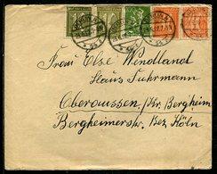 Deutsches Reich / 1922 / Int. Infla-MiF A. Brief, Steg-Stempel BERLIN N (4/050) - Allemagne