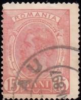 ROMANIA - Scott #124 King Carol I 'Wmk. 164' (2) / Used Stamp - 1881-1918: Charles I