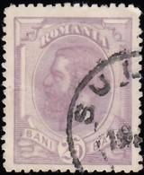 ROMANIA - Scott #126 King Carol I 'Wmk. 164' / Used Stamp - 1881-1918: Charles I