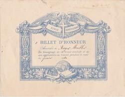 Ecole Chrétienne / Billet D'honneur 1920 / Bonne Conduite & Application Au Travail - Diplômes & Bulletins Scolaires