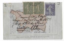 RARE CARTE-LETTRE PNEUMATIQUE De MARSEILLE TYPE SEMEUSE (NON UTILISEE à MARSEILLE Ni En PNEUMATIQUE) - Postal Stamped Stationery