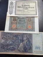 Lot 3 Billets Allemagne - Monete & Banconote