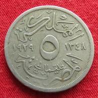 Egypt 5 Milliemes 1348 1929 Egipto Egypte Egito Egitto Ägypten - Egypte